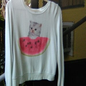 Wildfox BBJ with kitten and 🍉